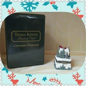 NWT THOMAS KINKADE PAINTER OF LIGHT BOX ORNAMENT